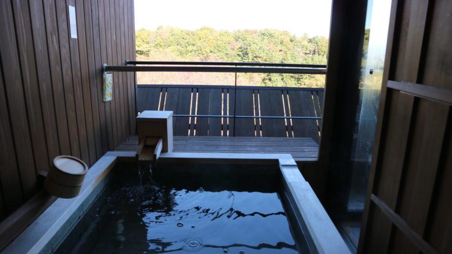 ラフォーレ修善寺の露天風呂(朝)