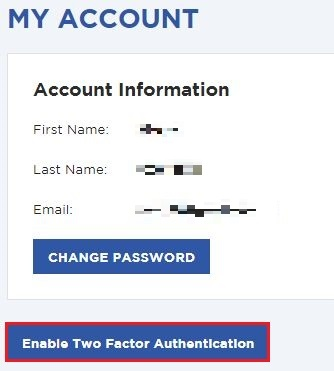 [Enable Two Factor Authentlatlon] をクリック