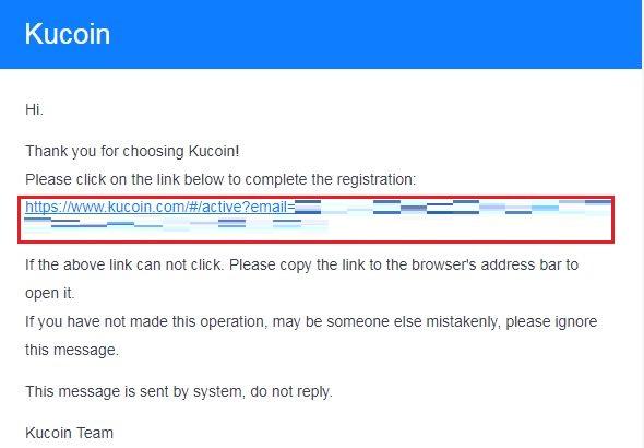 登録したメールアドレスに以下のようなメールが届くため URL をクリック