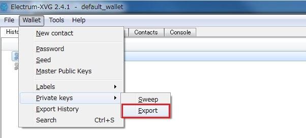 Electrum WalletからQTウォレットへアドレスを移行する方法