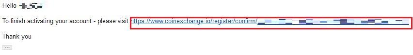 登録したメールアドレスに以下のメールが届くため URL をクリック