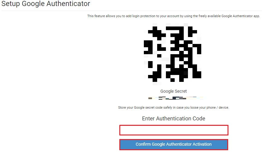 画面に表示されている QR コードを読み取ると、COINEXCANGE が追加されるため表示されている番号を入力
