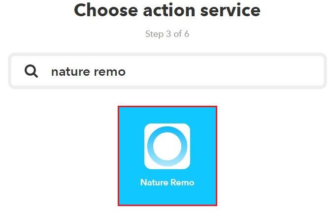 [Nature Remo] をクリック