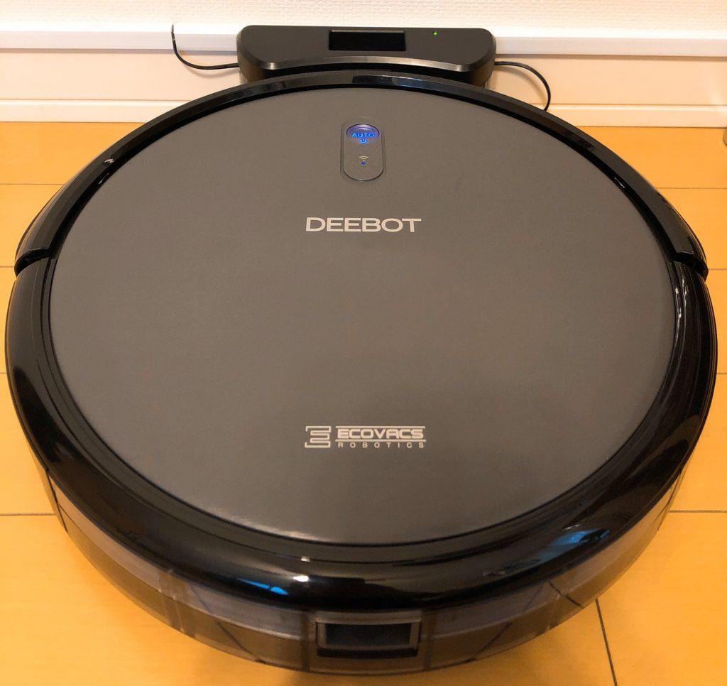 充電ドックにロボット掃除機をセットして、電源を入れる