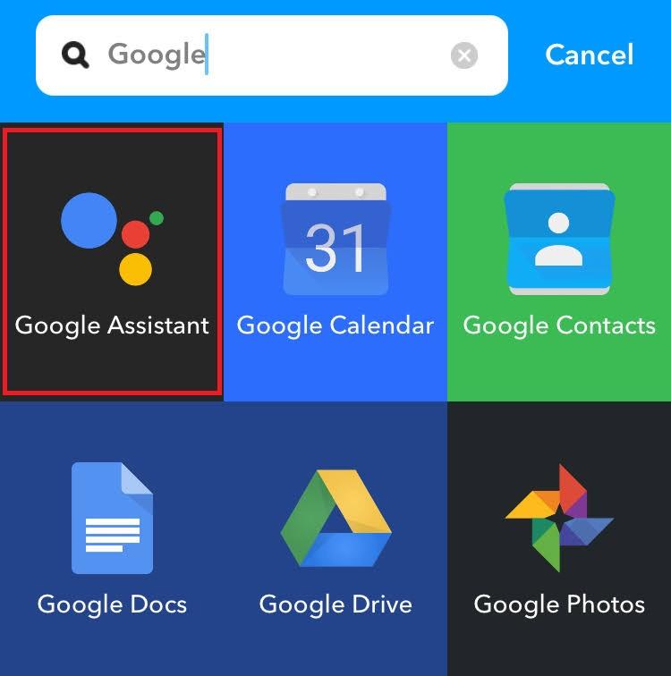 [Google Assistant] をタップ