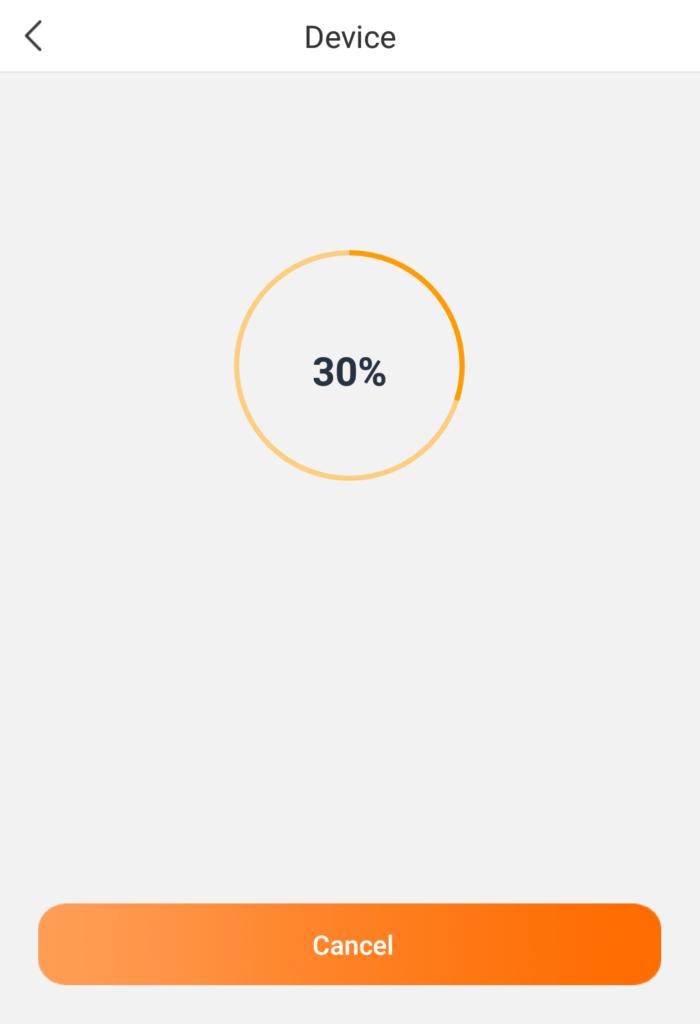 接続中の画面になるため、本体液晶に表示される電源ボタンを 3秒以上押す