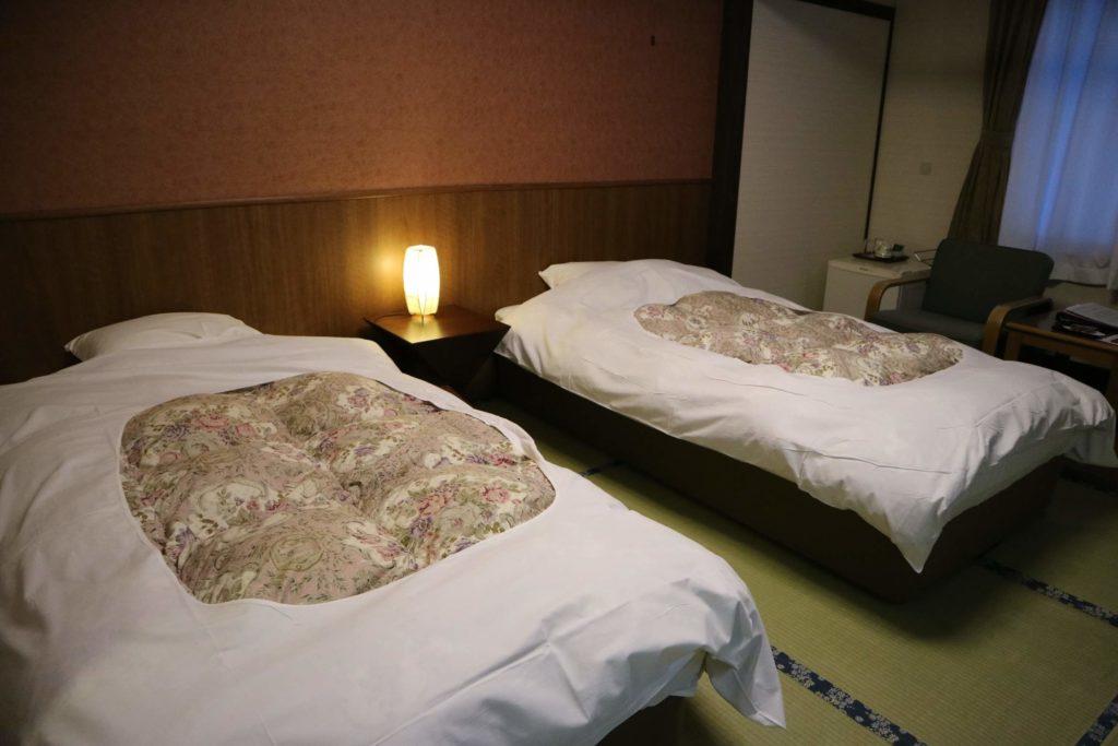 和室でありながら、ベッドを利用できます。