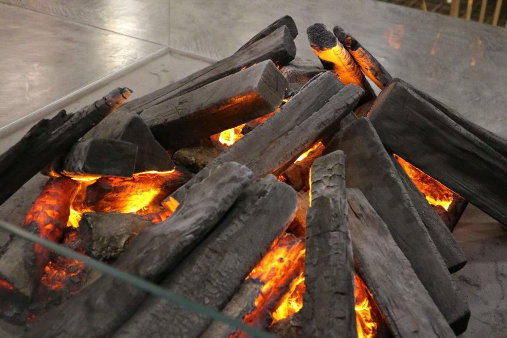ロビーに暖炉のオブジェクトがあり、見ていると自然と温かい気持ちになれました。