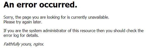 WordPress のインストールが完了しても起動まで時間がかかっている場合は、「An error occurred.」と言うエラーが表示されます。
