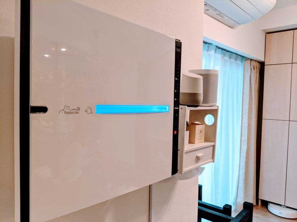 更に空気清浄機としては非常に珍しく、壁掛け空気清浄機として利用できます。